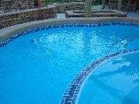 Crystal Beach Fibergl Pool And Spa In Sharpes Fl
